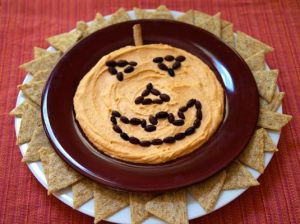 64-Non-Candy-Halloween-Snack-Ideas-hummus-plate